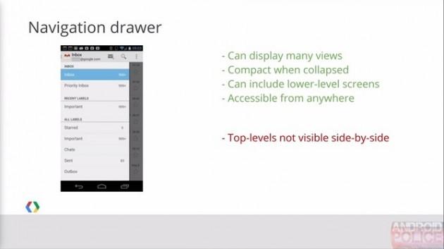 GMail, ecco la prima immagine della nuova app con Navigation Drawer