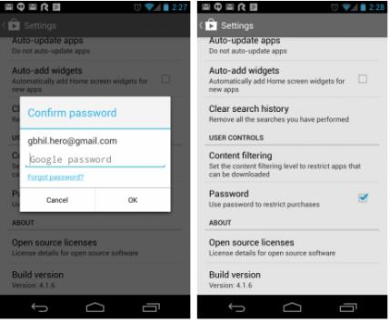 Google Play Store: ecco come proteggere con password il download delle app