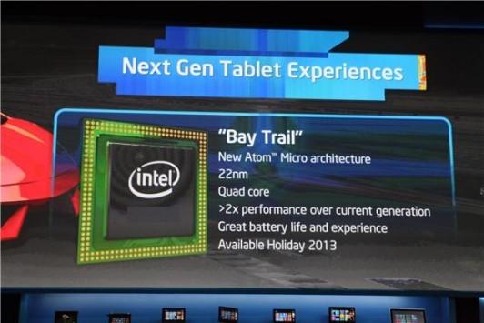 Intel Bay Trail quad-core a 64-bit su Android in estate