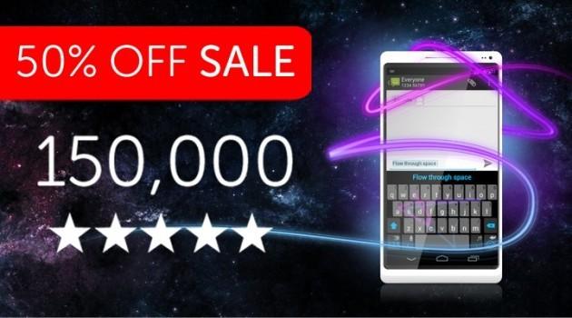 SwiftKey a metà prezzo per festeggiare 150mila recensioni a cinque stelle