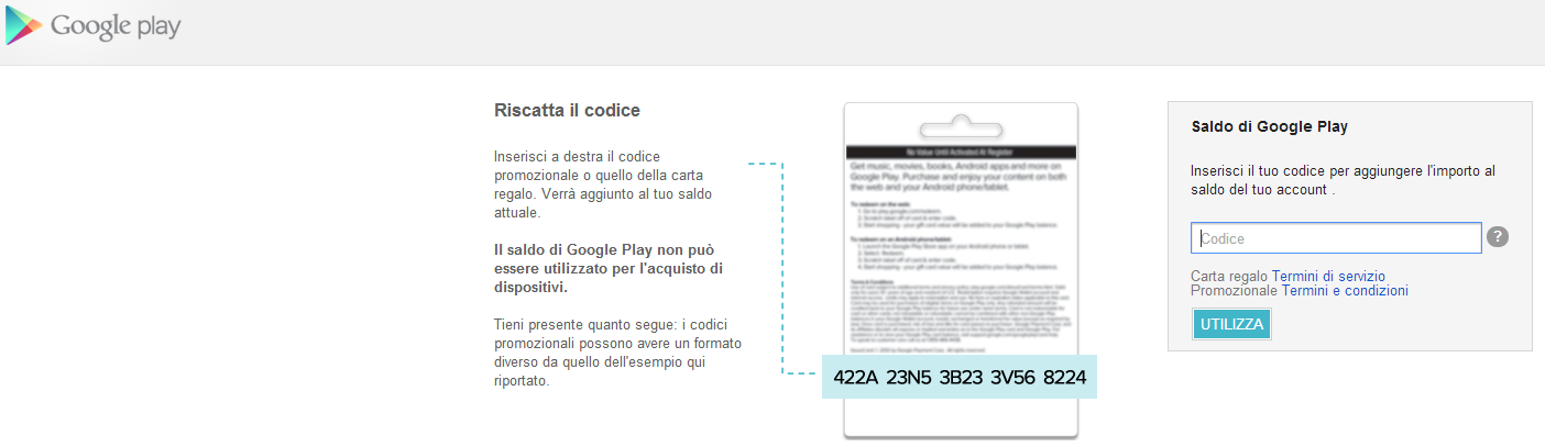 Google Play Gift Cards in arrivo anche in Italia?