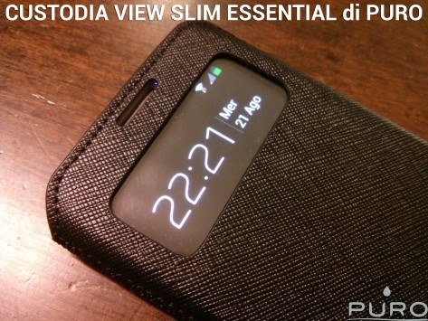 Custodia VIEW Slim Essential di PURO per Galaxy S 4