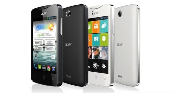 Acer Liquid Z3: ecco un nuovo smartphone con display da 3.5