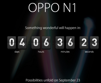 Il countdown è iniziato per l'Oppo N1: presentazione il 31 agosto e vendita dal 23 settembre?