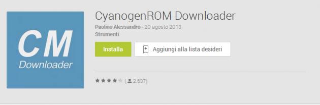CyanogenROM Downloader si aggiorna ed introduce download, flash e backup e automatici