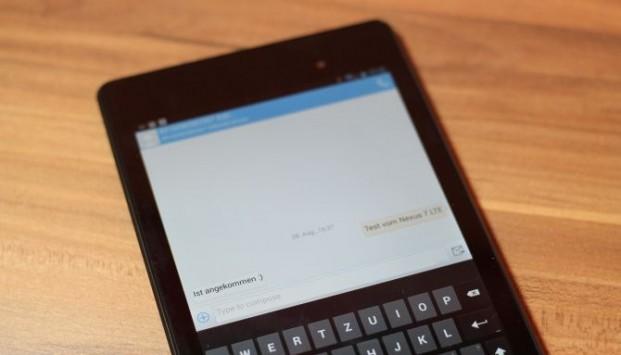 Nexus 7 LTE 2013: confermata la possibilità di inviare/ricevere SMS