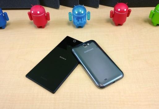Sony Xperia Z Ultra vs Samsung Galaxy Note II: ecco un video confronto