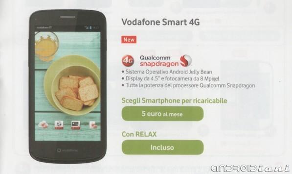 Un nuovo smartphone LTE Vodafone compare sul volantino della compagnia