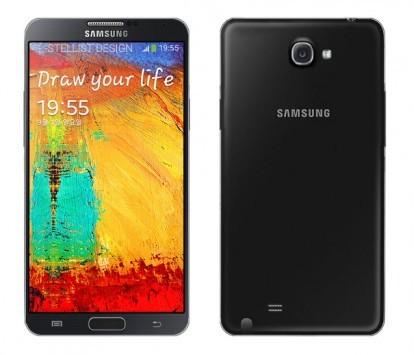 Galaxy Note III: render e confronto con Note 2