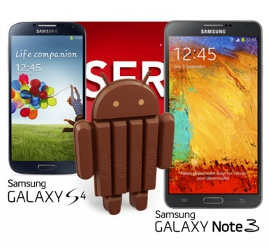 KitKat a Gennaio su Samsung Galaxy S4 e Note 3, secondo SFR