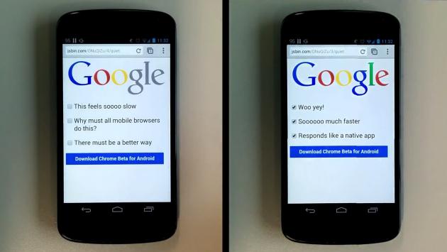 Chrome Beta per Android: rimosso il ritardo di 300ms al tocco [VIDEO]