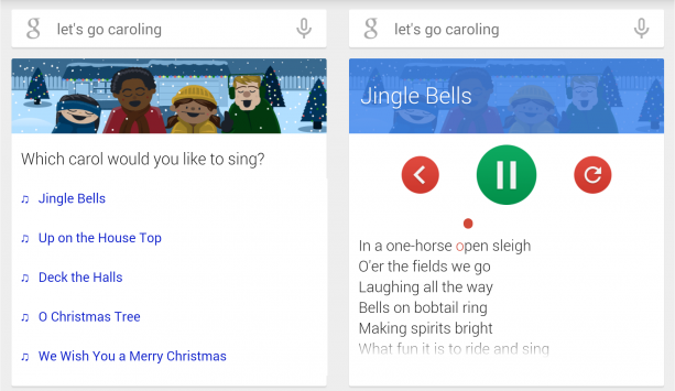 Let's go caroling: easter egg natalizio per Google Search