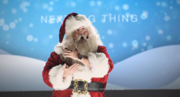 Samsung ingaggia Babbo Natale per il nuovo spot di Galaxy Gear