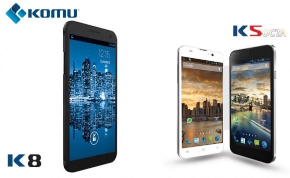 Komu presenta K5 octa e K8: smartphone dual sim octa core