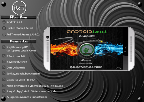 HTC One M8: la Rayglobe RO