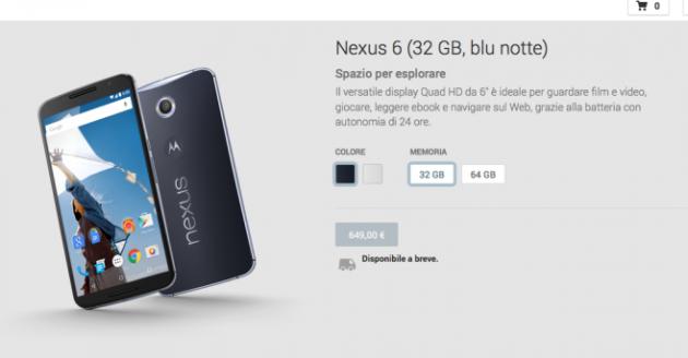 Nexus 6 disponibile a breve assieme alle custodie